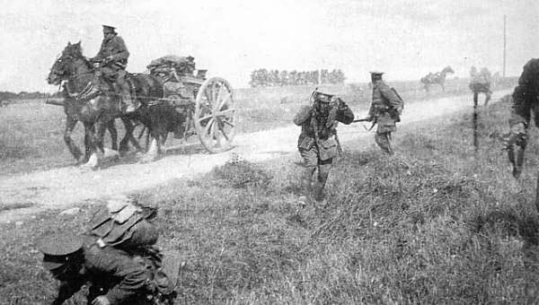 Image result for british troops shrapnel fire first world war