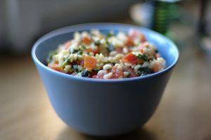 "Mediterranean Cauliflower ""cous cous"" Salad"