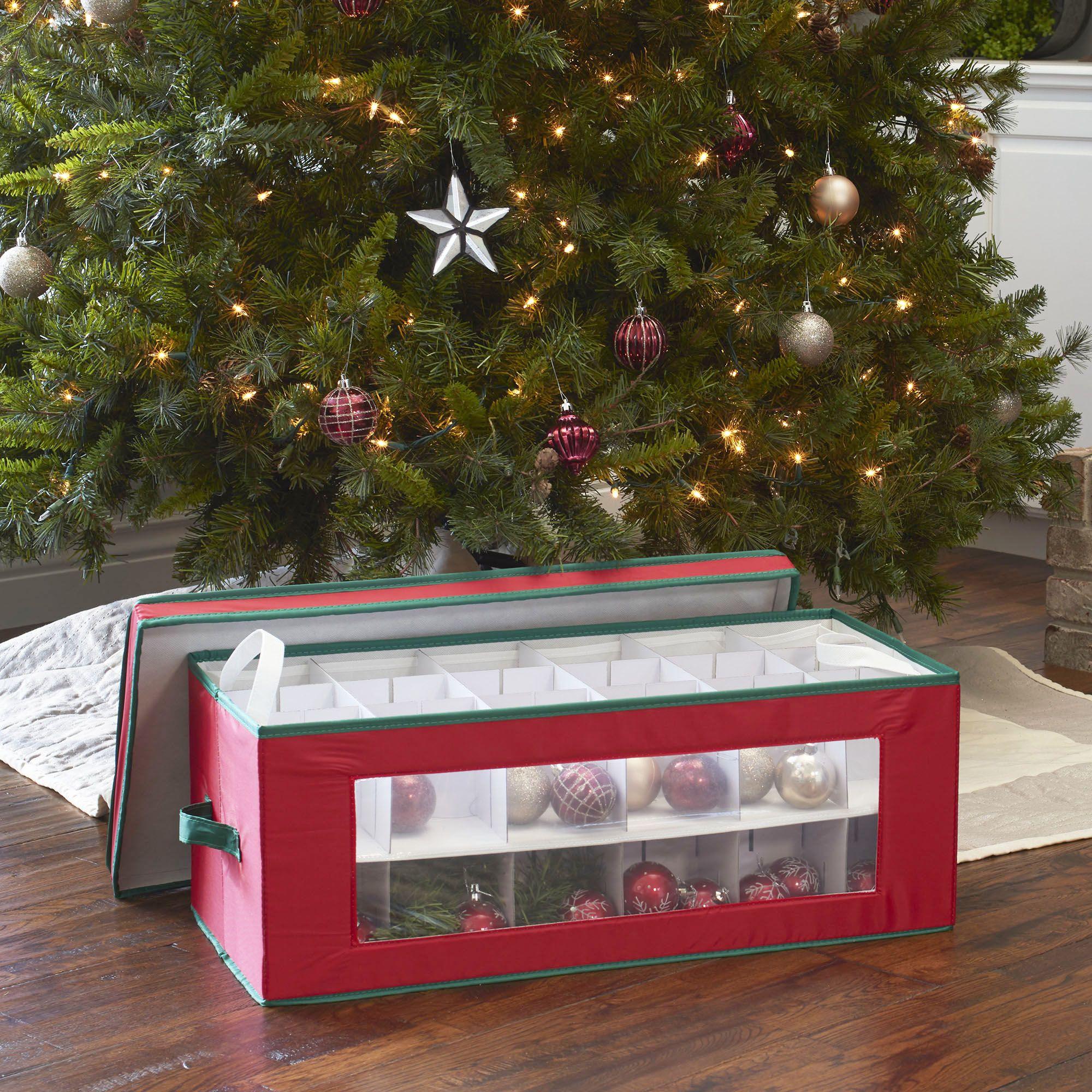 Window Vision 36 Pc Holiday Ornament Storage Box In 2020 Ornament Storage Ornament Storage Box Holiday Storage