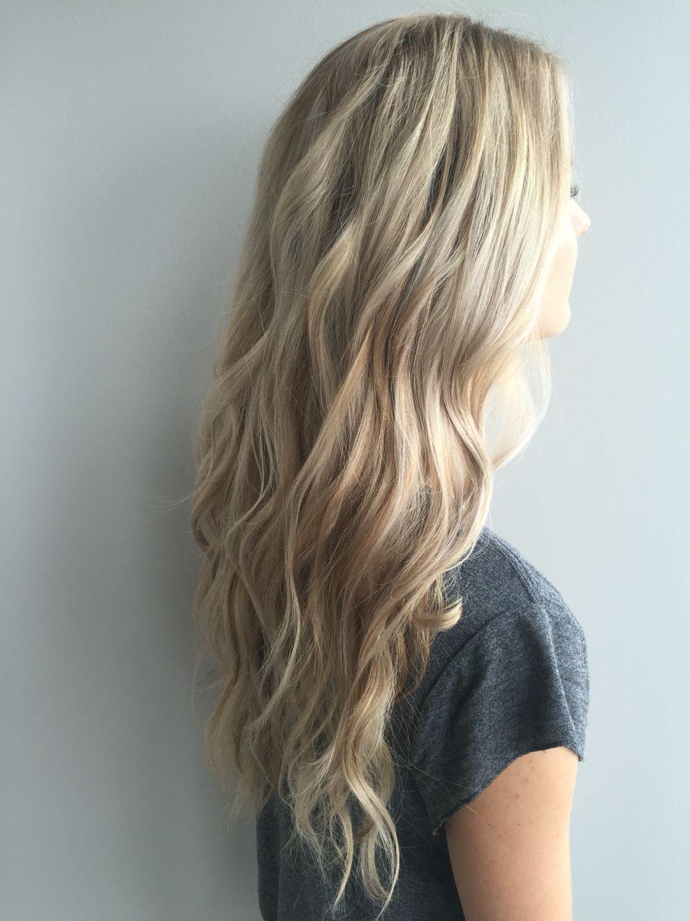 Long blonde hairstyles Dimensional blonde Dirty blonde