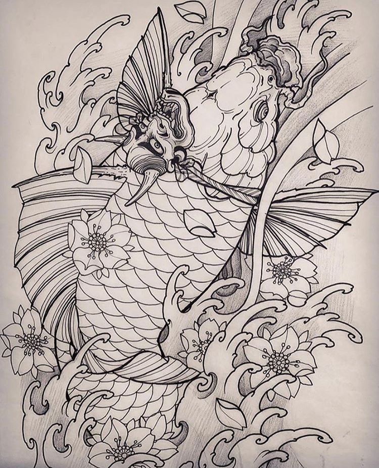 "THE IMPERIAL INK 🐉 trên Instagram ""Koi 鯉魚 by john"
