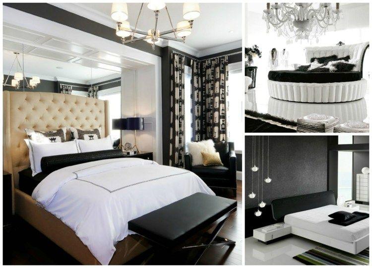 Schwarz-Weiß-Schlafzimmer Dekor 30 stilvolle Beispiele Pinterest