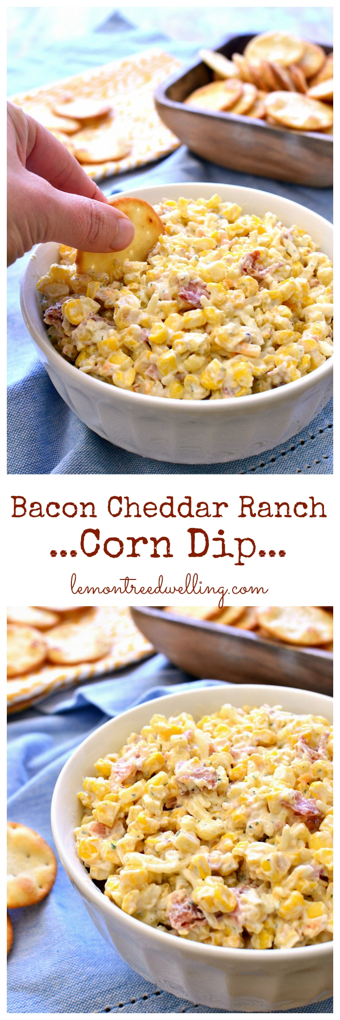 This Bacon Cheddar Ranch Corn Dip is made with just 5 ...