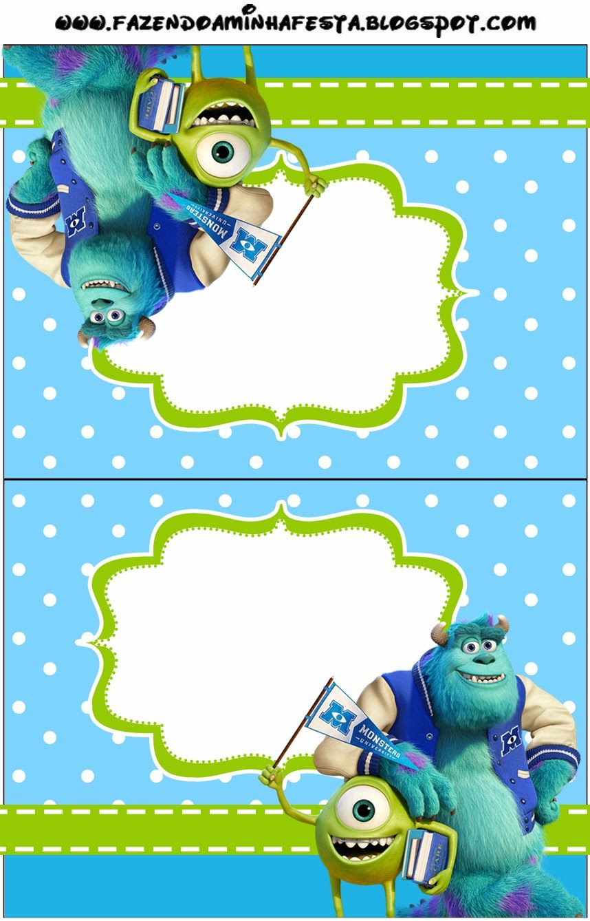 Monster University: Free Printable Party Invitations. | Oh My ...