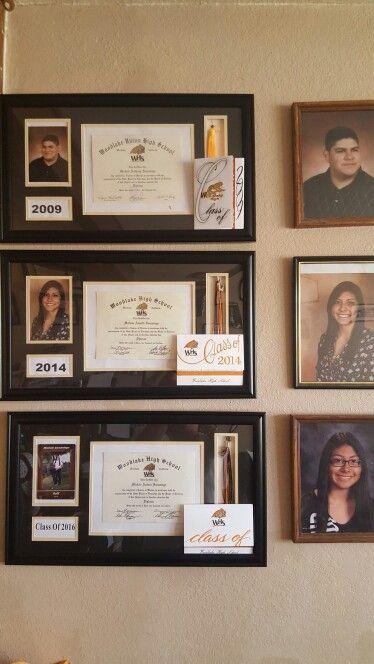 Diploma Display Award Frame High School Graduation