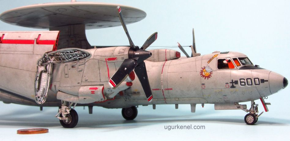 1//72 Diecast Aircraft E-2C Hawkeye Fighter Model for Home Office Decor