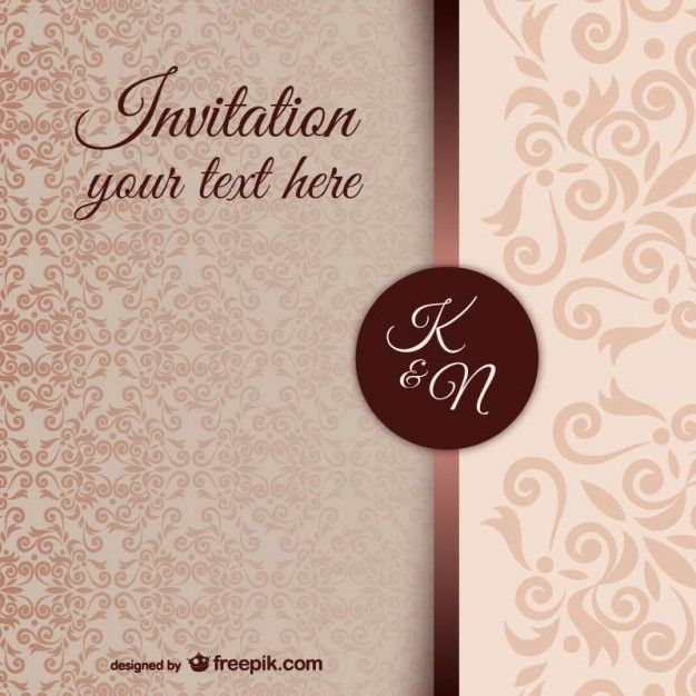 vintage-invitation-template-with-damask-pattern_23-2147498247jpg - vintage invitation template