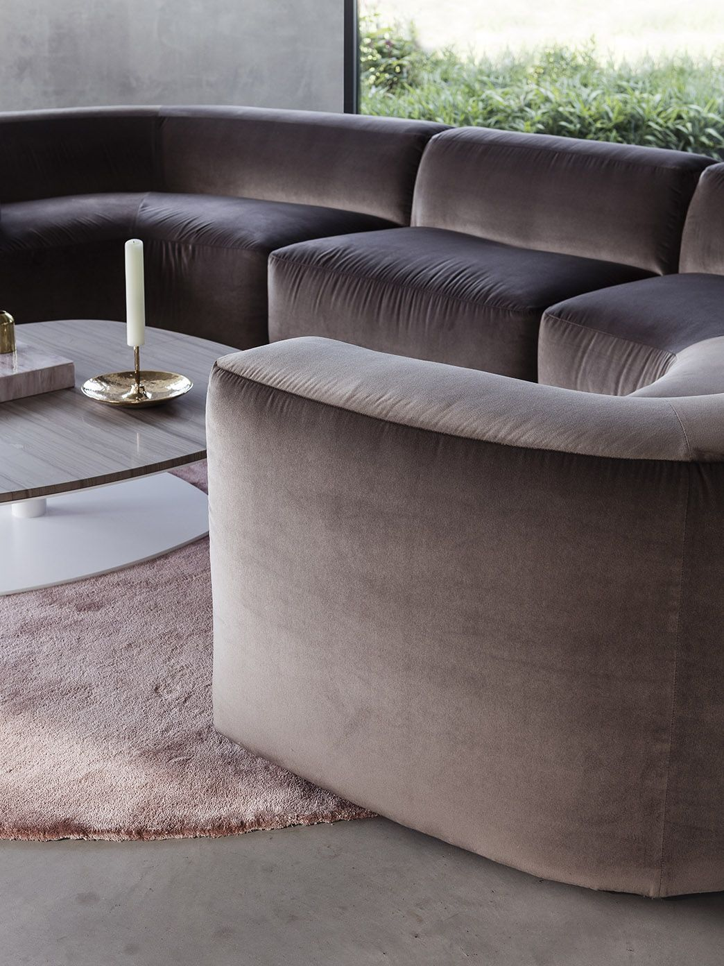 bo sofa belle armchair and kek coffee table and klink side table