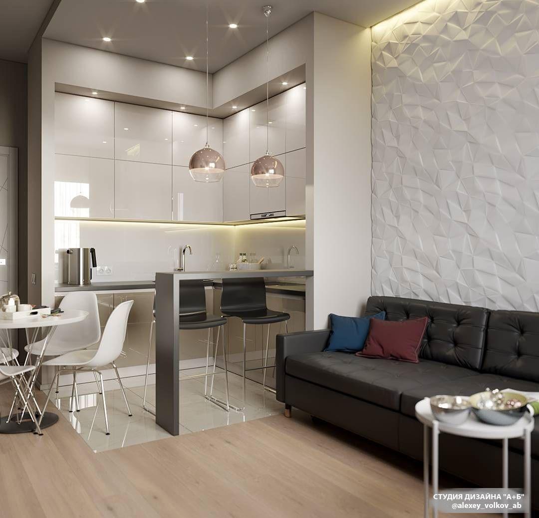 Кухня бежевая, барная стойка в 2020 г | Идеи домашнего ...
