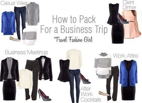 work trip packing list