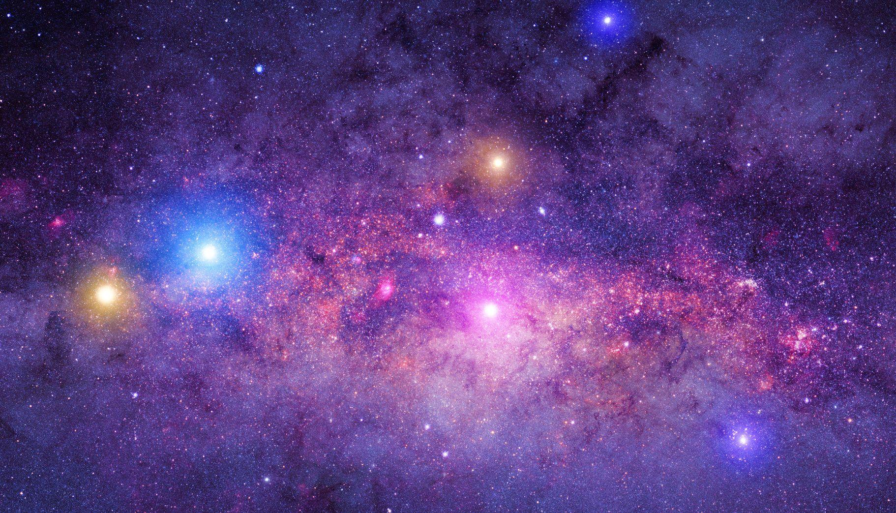 Des Chercheurs Ont Utilise Le Telescope Spatial Spitzer De La Nasa Pour Analyser La Lumiere Emise Galaxy Background Background For Photography Vinyl Wallpaper
