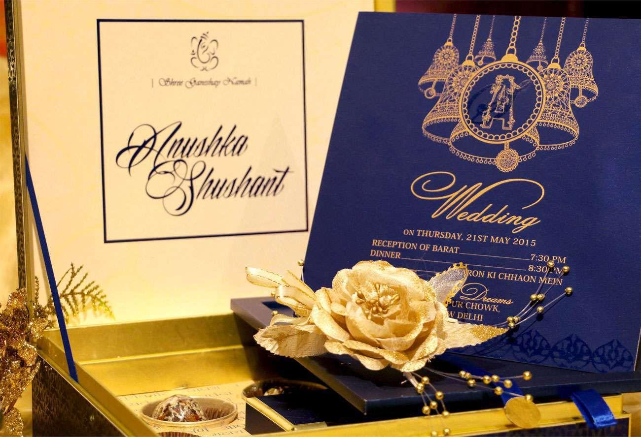 Vwi New Delhi Blue Bellvwi 1008 2 Wedding Card Designer