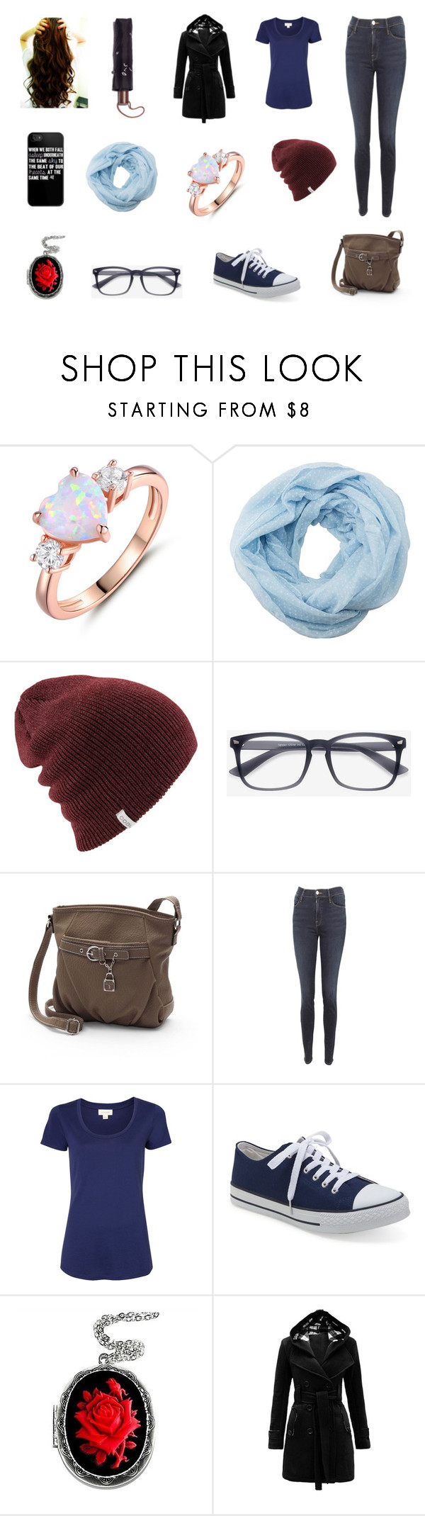"""""""Untitled #240"""" by fallen-326 on Polyvore featuring Peermont, Charlotte Russe, EyeBuyDirect.com, Rosetti, Frame, Witchery, Aéropostale, Couture by Lolita and Madewell"""