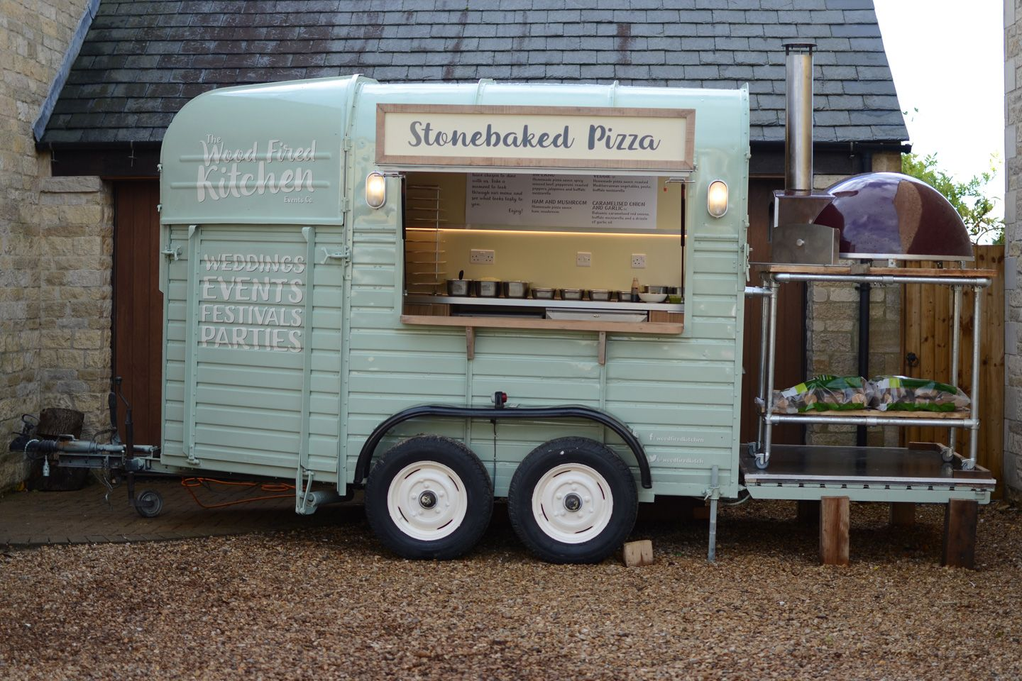 Horse Trailer Pizza Oven