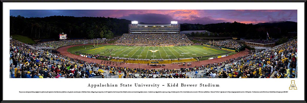 Appalachian State Mountaineers Panoramic Kidd Brewer