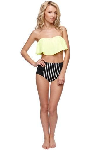 LA Hearts Flounce Bandeau Top and High Rise Bottoms 994c84a80