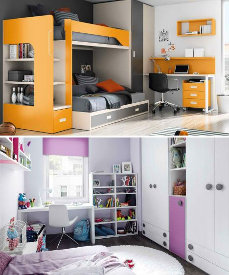 Ordinaire Compact U0026 Colorful Kids Room Design Ideas By KIBUC | Designs U0026 Ideas On  Dornob