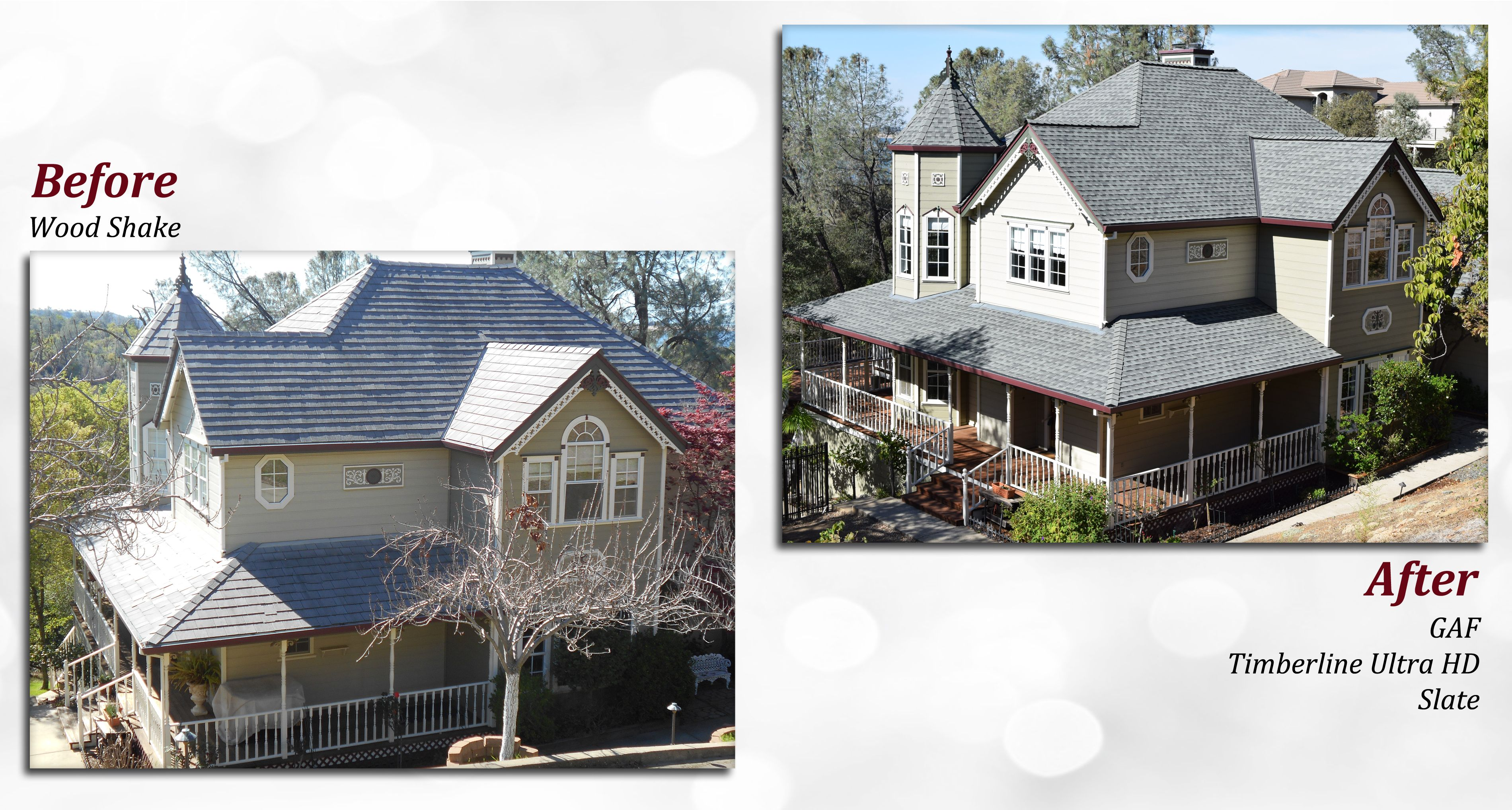 Best Before After Of A Gaf Roof Profile Timberline Ultra Hd 640 x 480