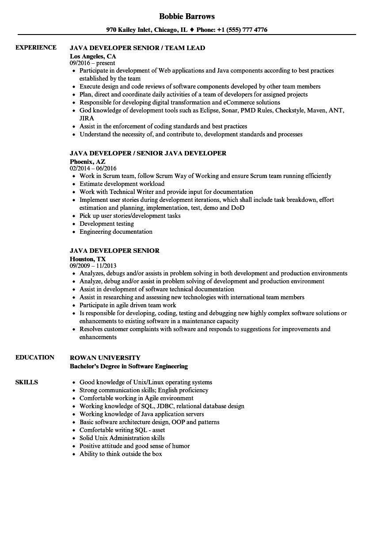 13 Senior Java Developer Resume Sample Png In 2021 Resume Examples Job Resume Examples Resume Examples Simple