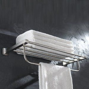 Bathroom Towel Rack Brushed Nickel Google Search With Images