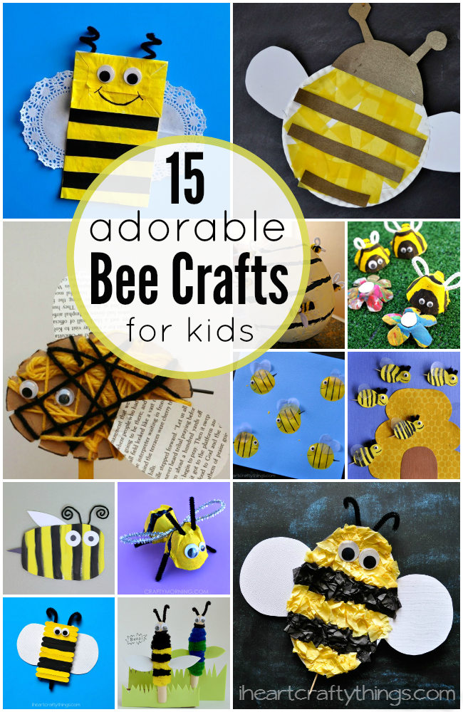 15 Adorable Bee Crafts For Kids Bee Crafts Bees And Craft