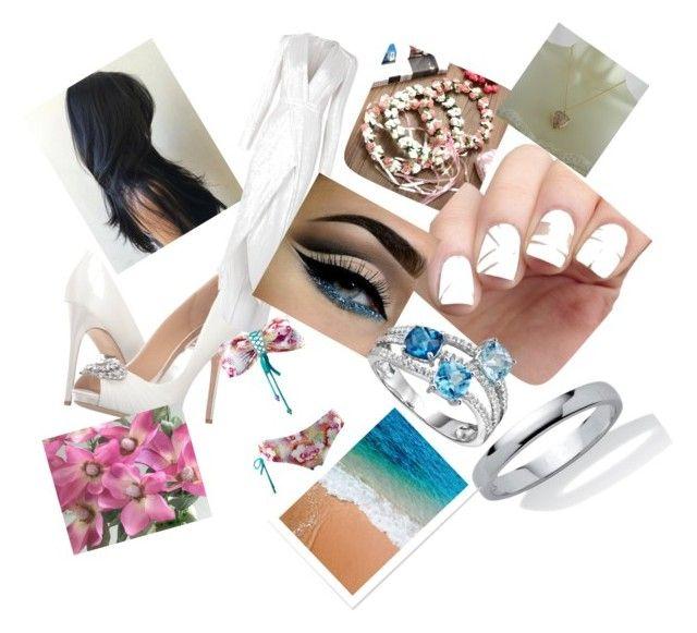 """My ideal wedding 👰🏼 🎩"" by danielamartinez0099 on Polyvore featuring Badgley Mischka, GURU, Galvan and Palm Beach Jewelry"