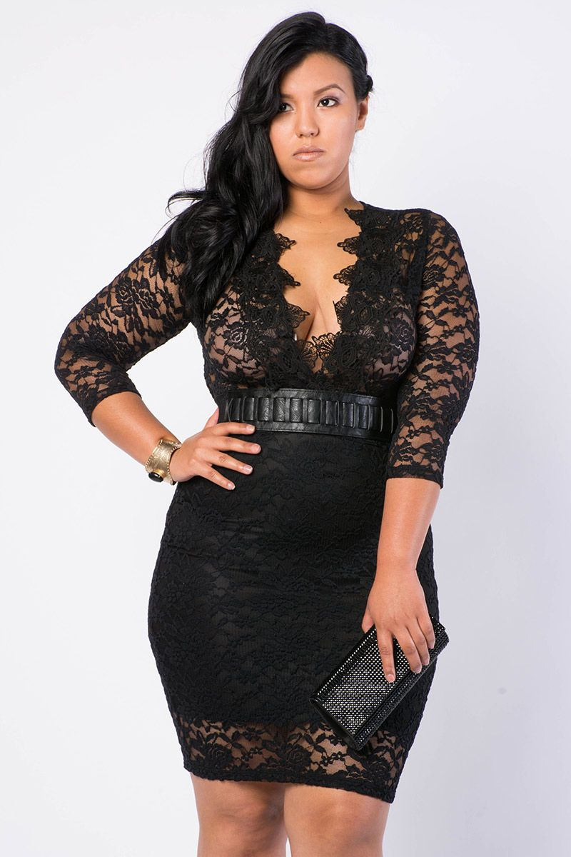 daring low v crochet lace dress 3599  that's a date