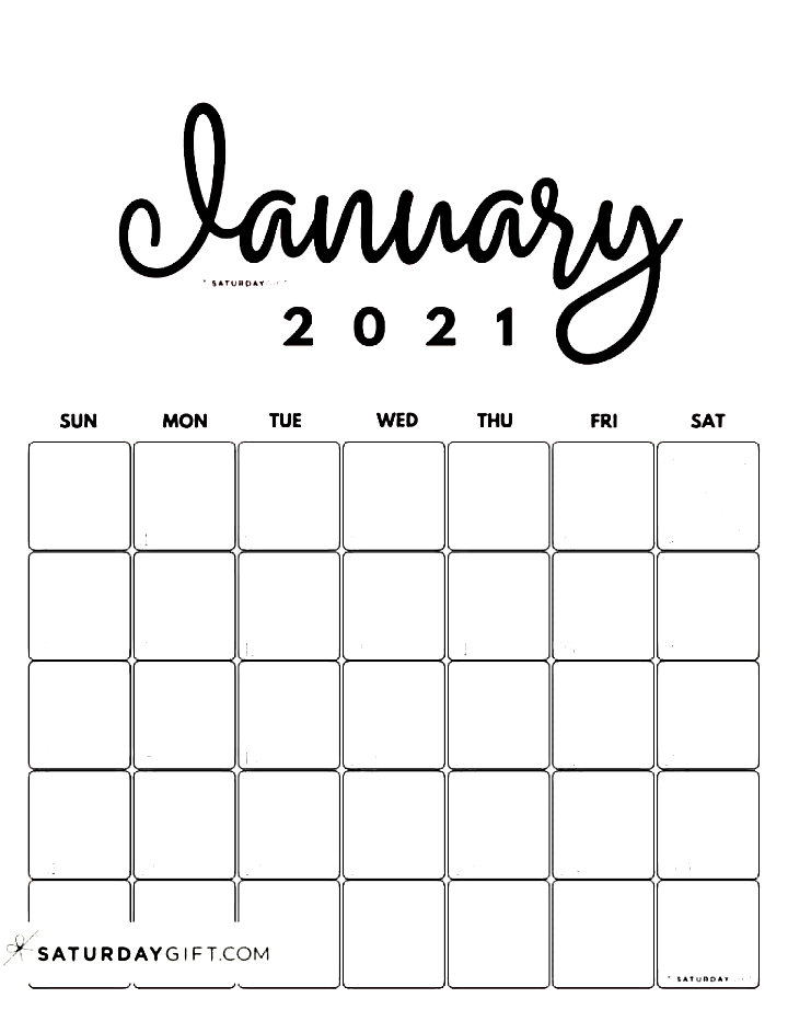 Cute Printable January 2021 Calendar By Month Pink Vertical Sunday Start Saturdaygift Calendars Calendars In 2020 2021 Calendar Calendar Printables
