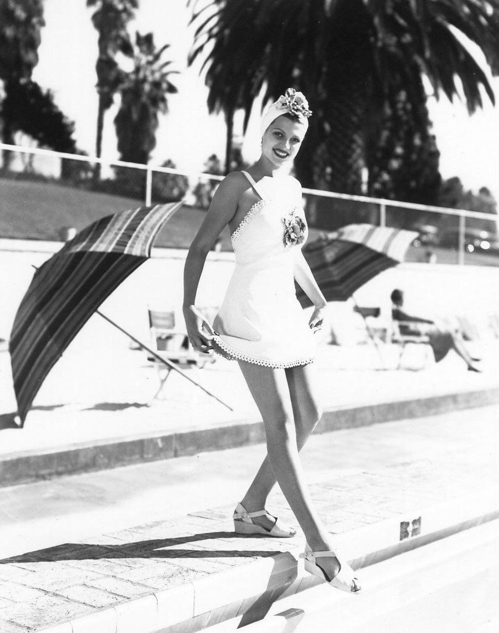 Rita Hayworth in a fabulous swim outfit!