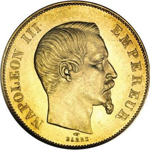 French Napoleon Iii 50 Franc Gold Coin