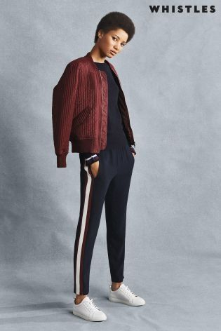 If you're yet to rock the athleisure trend this season, why not start with this KILLER combo from Whistles, paired perfectly with their burgundy bomber?