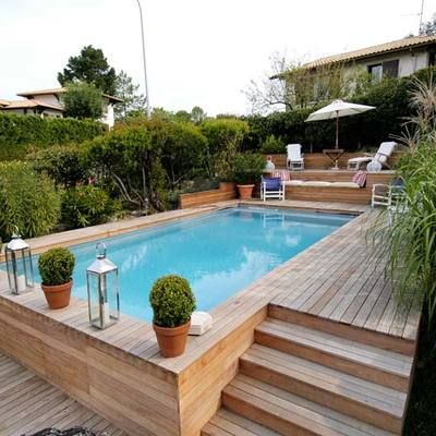 Pin By Tiffany Brombach Horn On Piscinas Backyard Pool Landscaping Small Backyard Pools Backyard
