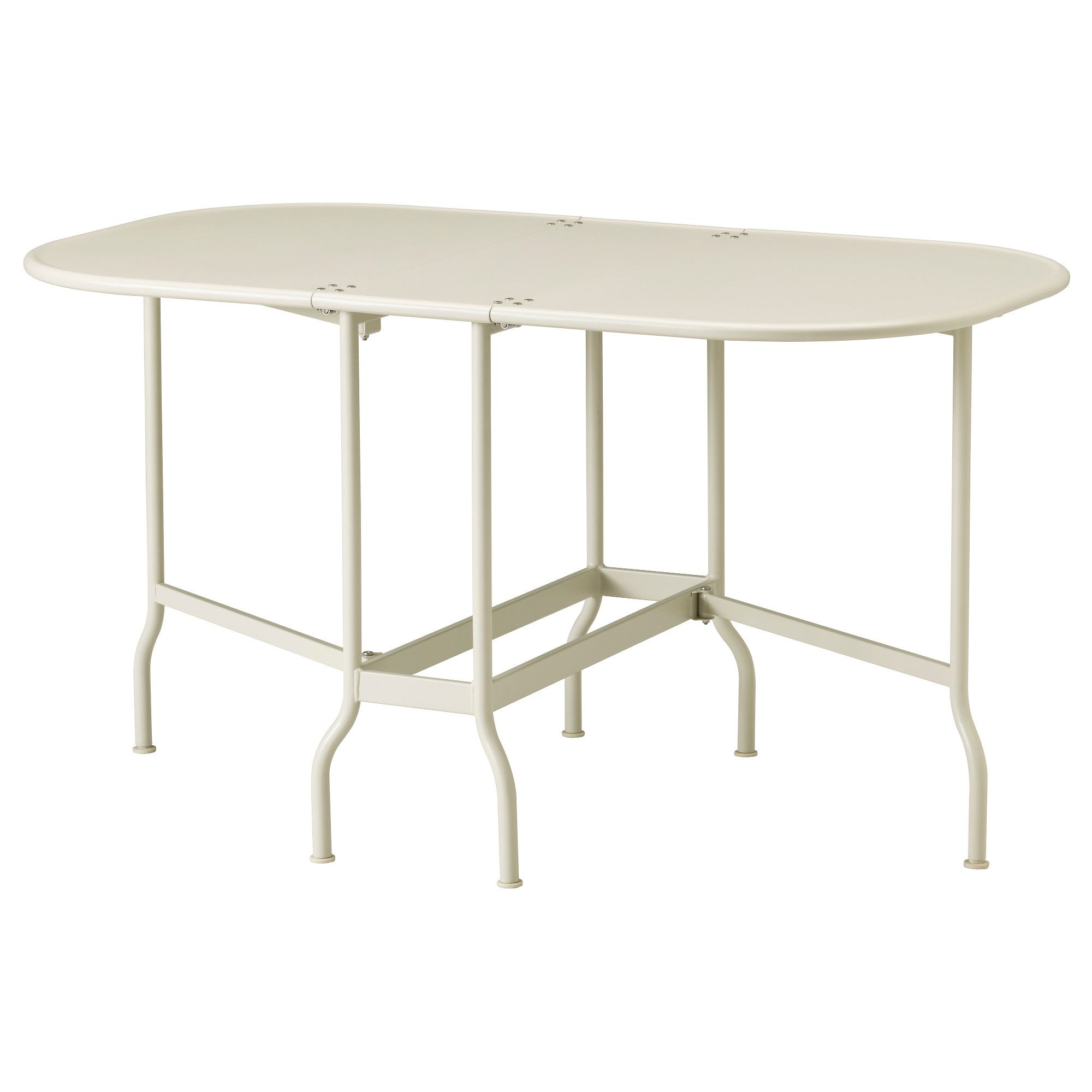Saltholmen Table Pliante Exterieur Beige 24x77x130x74 Cm Table Pliante Ikea Table En Acier