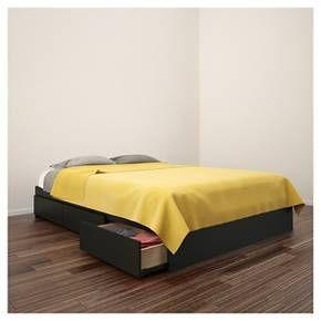 Nexera Avenue Reversible Storage Bed - Black