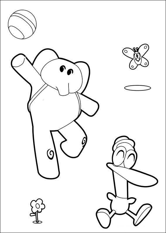 Pocoyo Ausmalbilder. Malvorlagen Zeichnung druckbare nº 34 ...