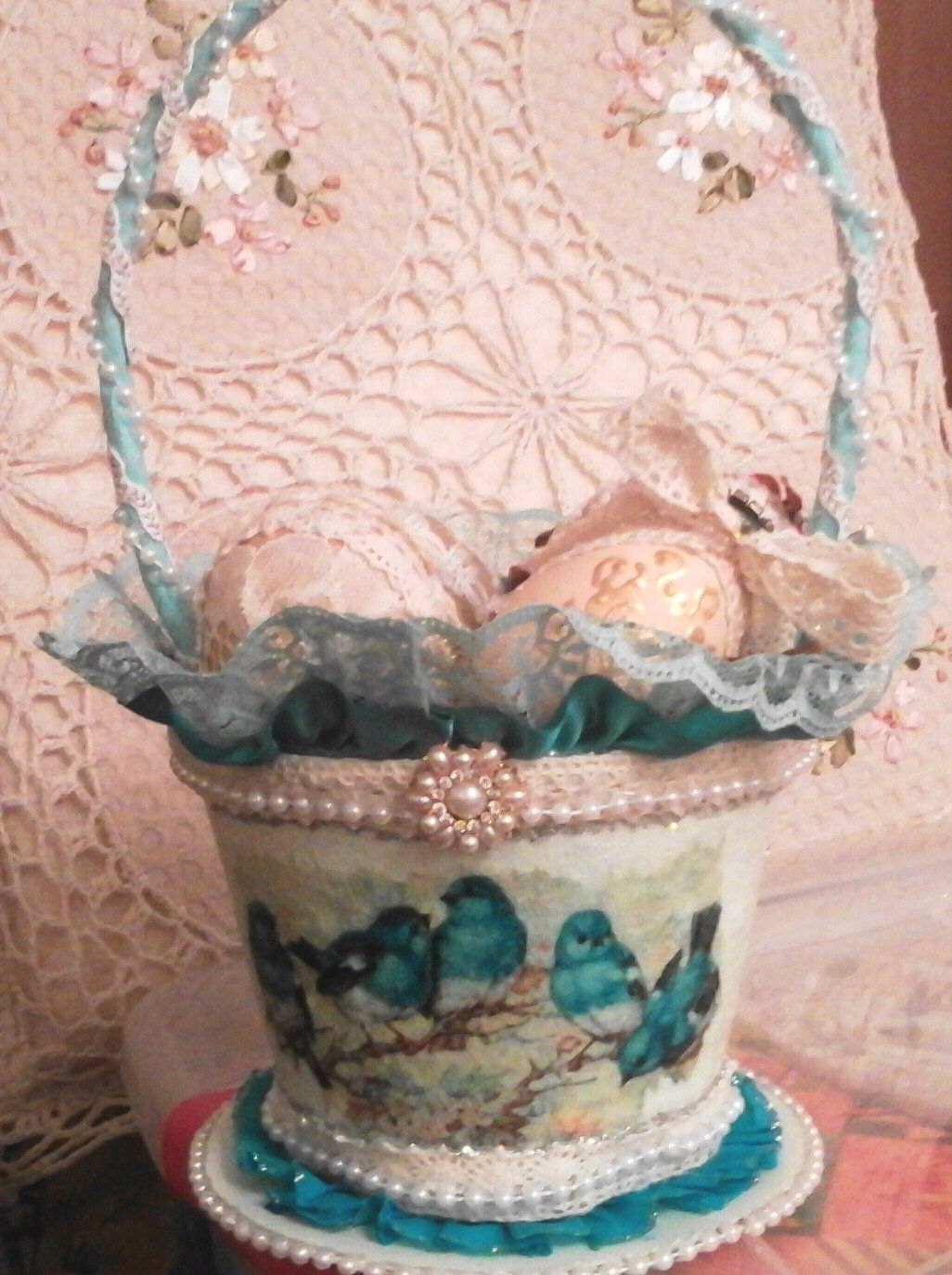 Cassy's Creations Spring Peat Pot basket.