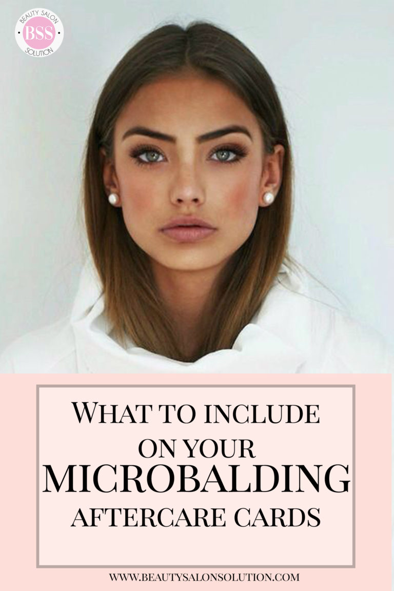 What to include on your microblading aftercare card
