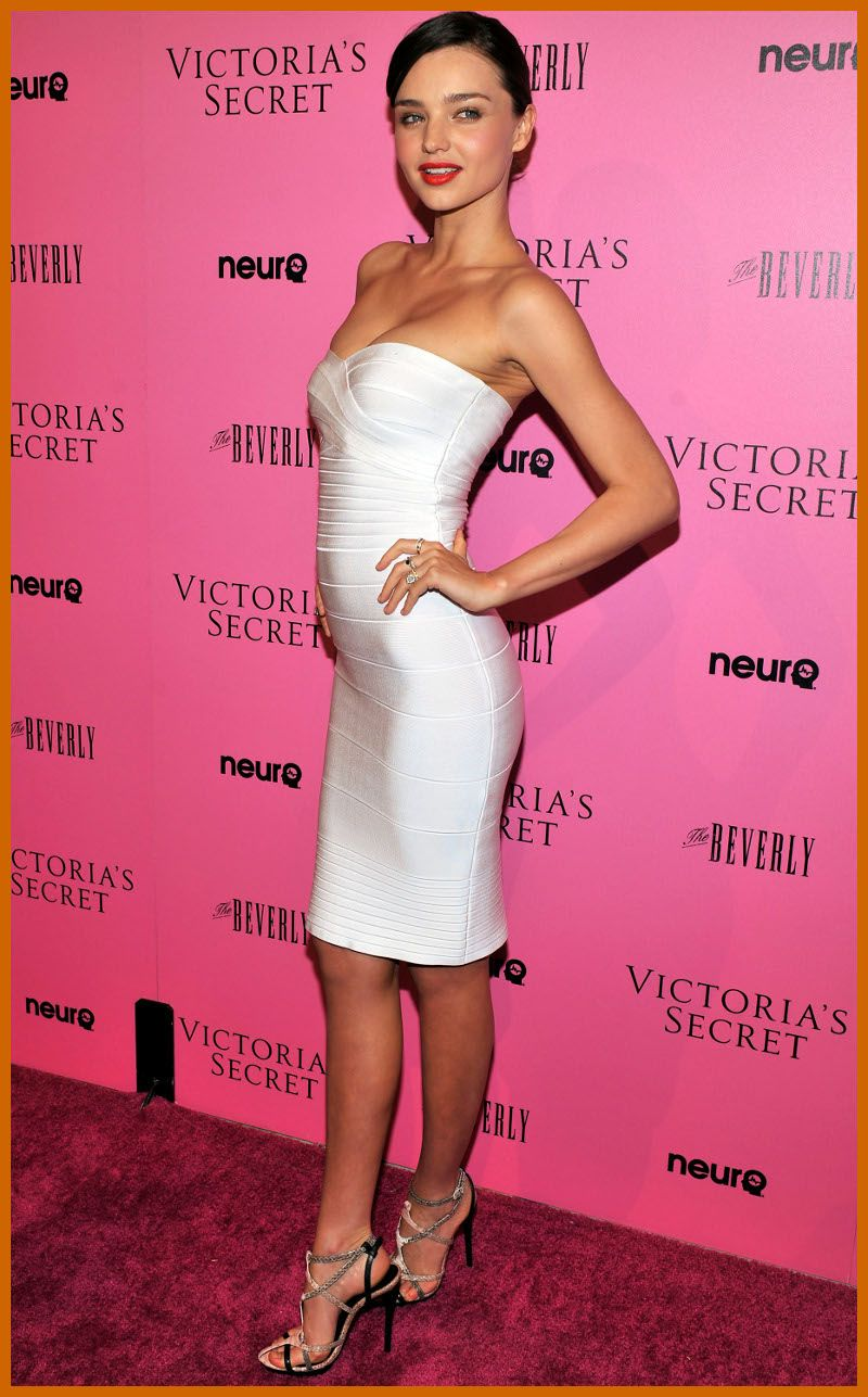 Herve leger white strapless dress