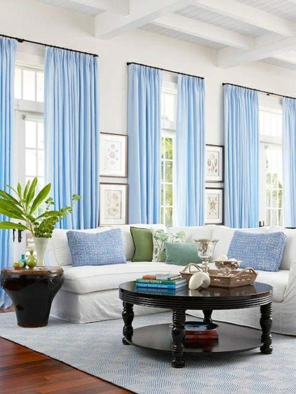 1001 moderne gardinenideen praktische fenstergestaltung wohnzimmer wohnzimmer vorh nge - Fenstergestaltung wohnzimmer ...