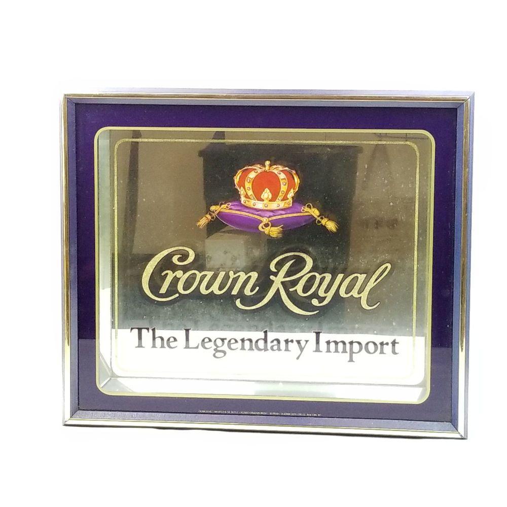 Crown Royal Liquor Mirror 19x16 Wall Sign Advertising