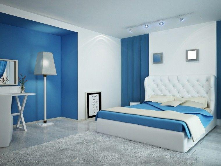 Resultado De Imagen Para Habitaciones Modernas Para Parejas Light Blue Bedroom Bedroom Wall Colors Blue Bedroom Decor
