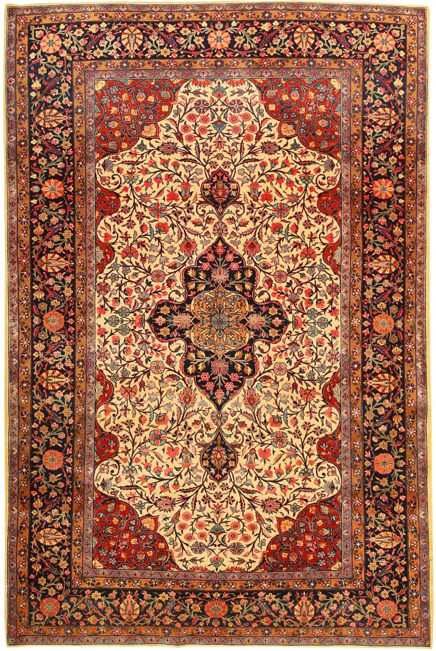 Antique Kashan Persian Rug 43262 Tappeti antichi