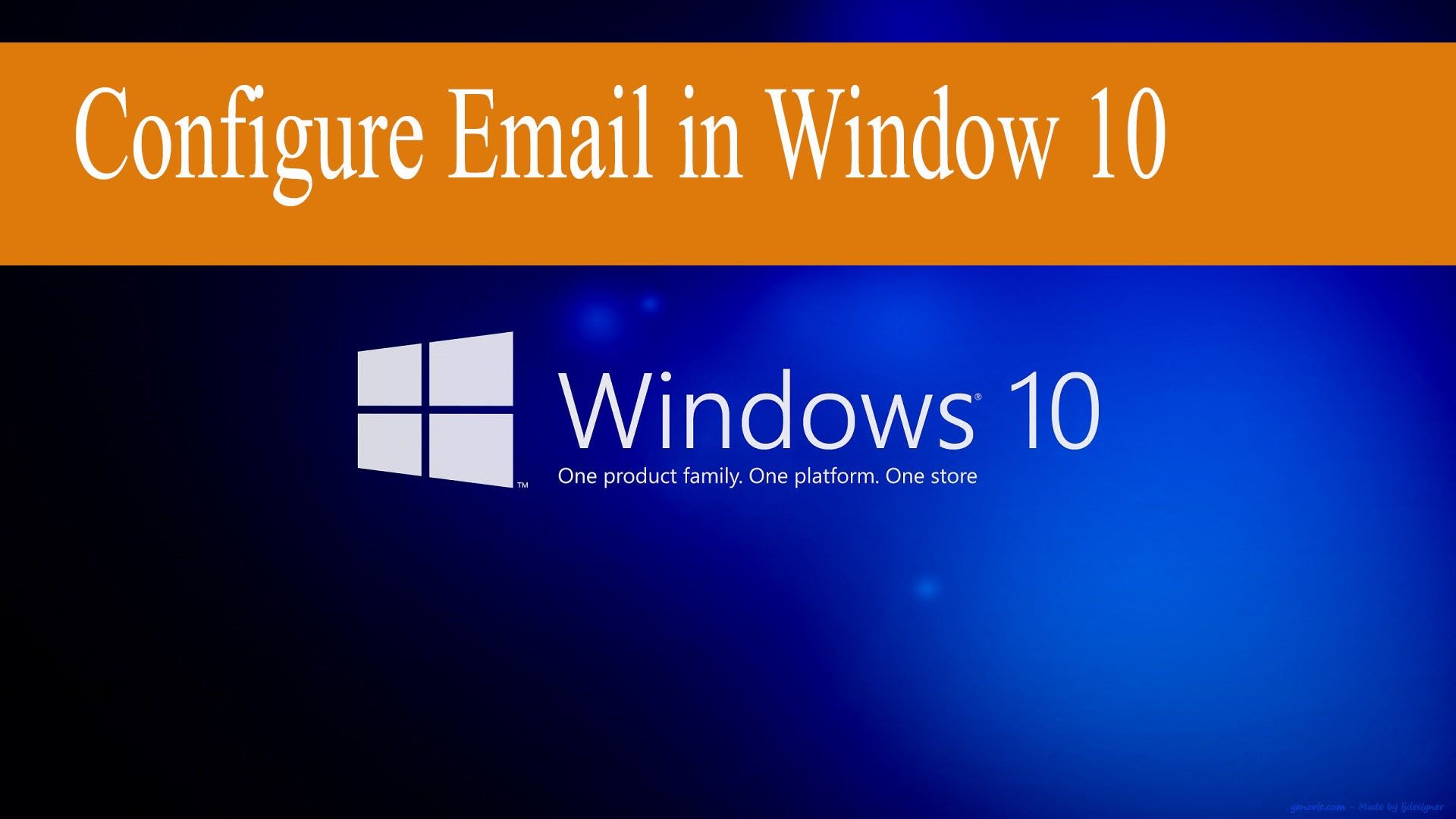 How to configure Email in Window 10
