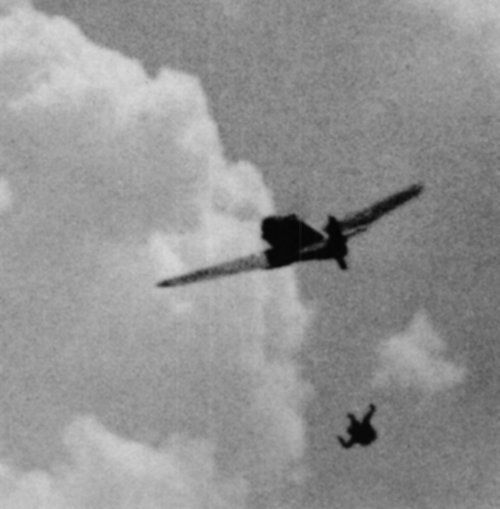 """Second World War gun camera footage: """"the pilot of this Bf-109 has ..."""