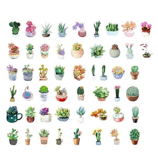 Succulent Sticker Set 1 (50 pcs)