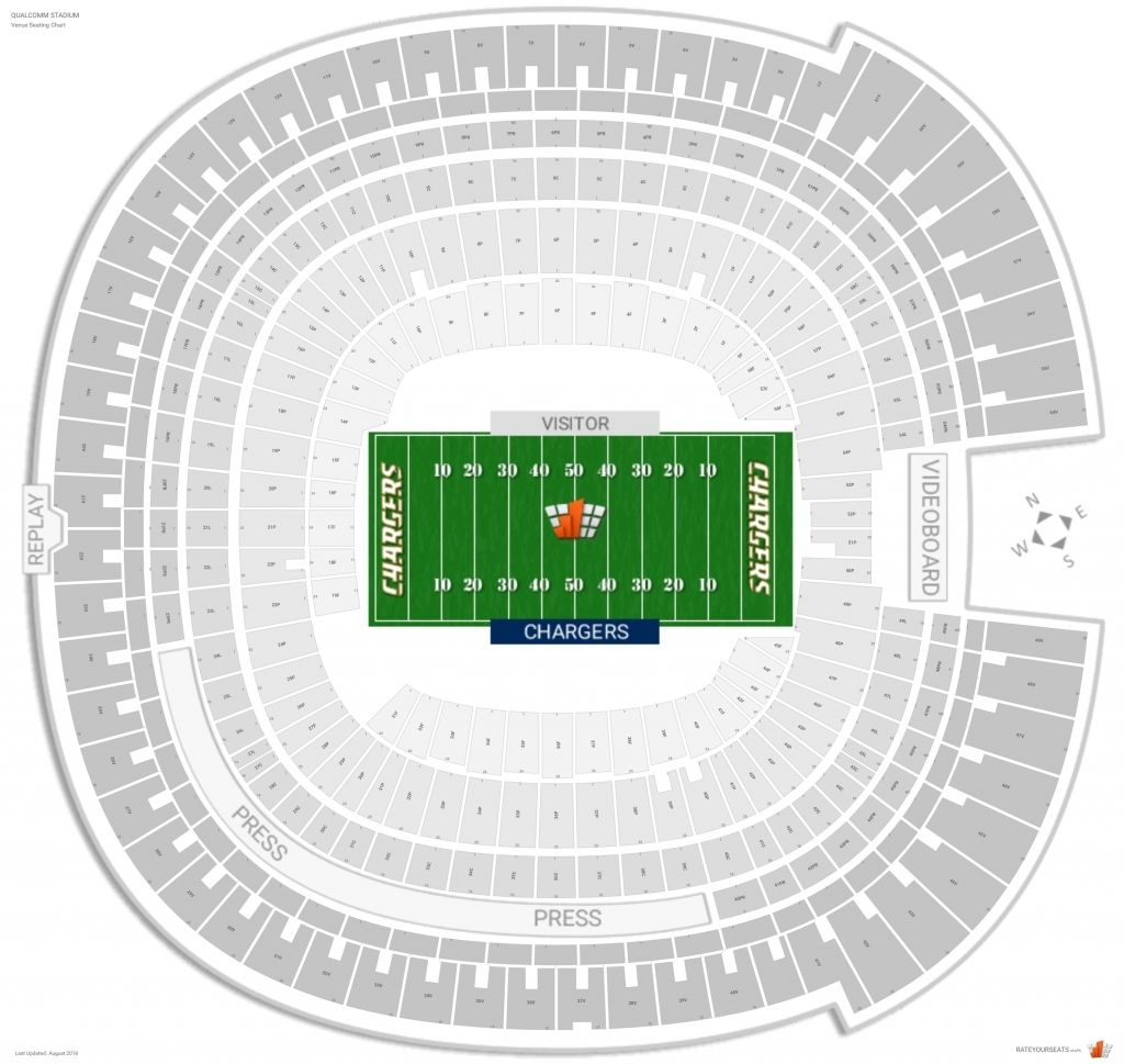 Qualcomm Stadium Seating Chart With Seat Numbers Di 2020