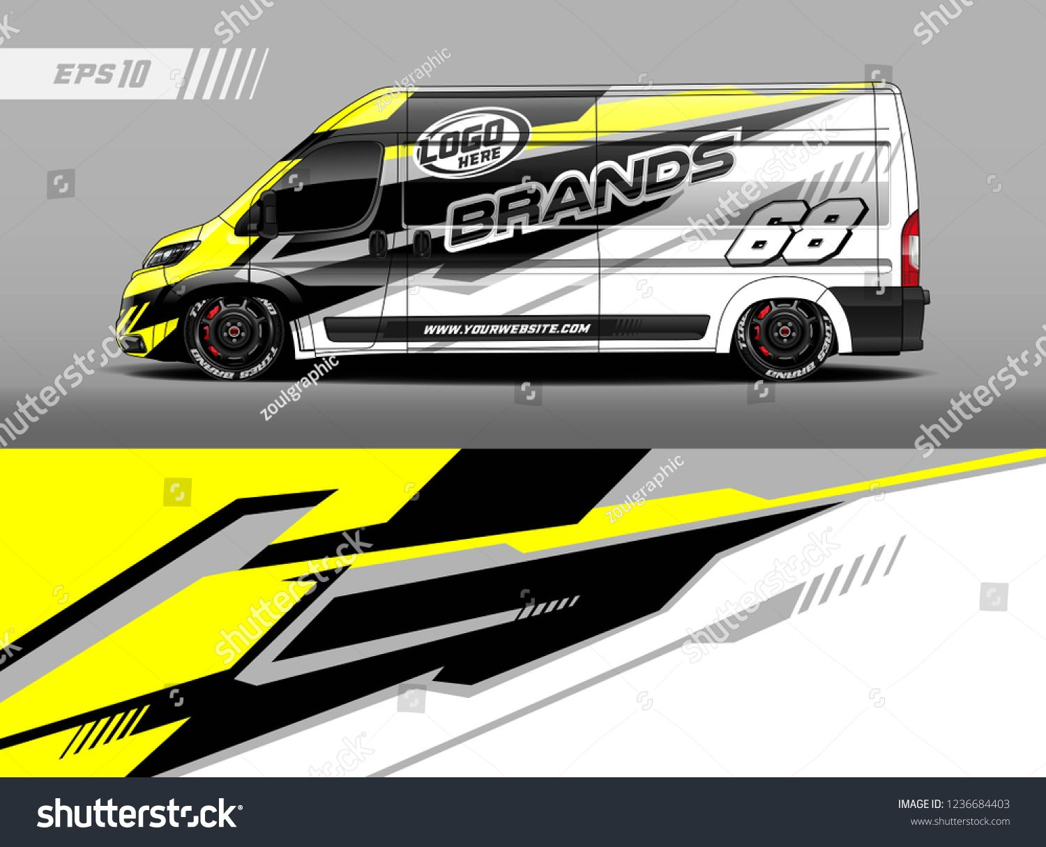 Cargo van decal design vector graphic abstract stripe racing background kit designs for wrap vehicle