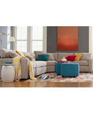 Furniture Radley Fabric Sectional Sofa Collection, Created For Macyu0027s  Furniture   Macyu0027s
