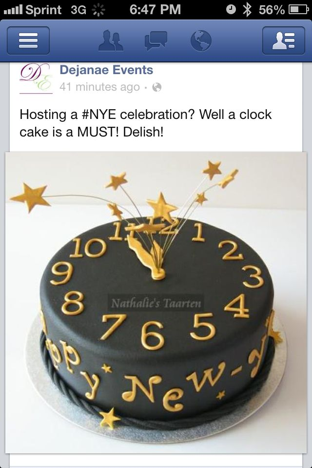 Awesome idea for a NYE cake