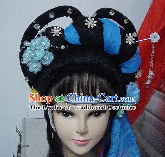b2a83b19b Chinese Opera Peking Opera Cantonese Opera Meng Jiang Nv Hairstyles  Fascinators Fascinator Wholesale Jewelry Hair Pieces and Black Wigs